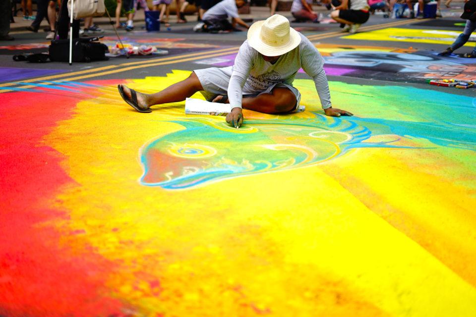 Street art at Chalkfest