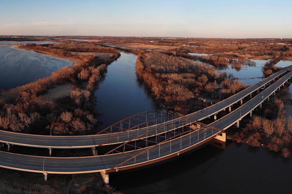 Birds-eye view of the Minnesota Valley National Wildlife Refuge