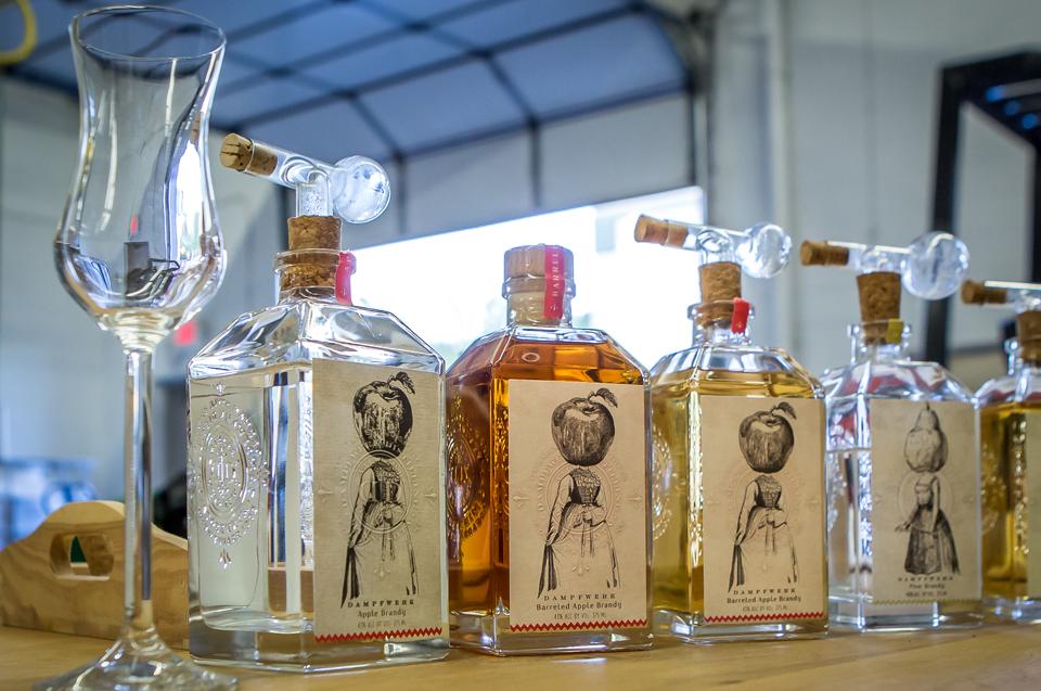 Brandy bottles